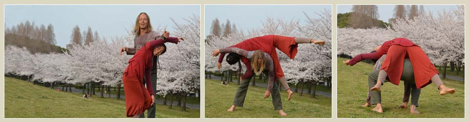 Contact improvisation image collage with Jonas Westring